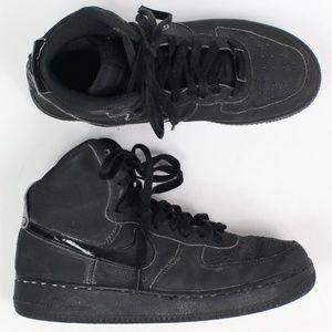 Nike Air Jordan AF1 mid triple black flatbrush